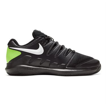Nike Junior Court Vapor X Tennis Shoe Black/White/Volt AR8851 009