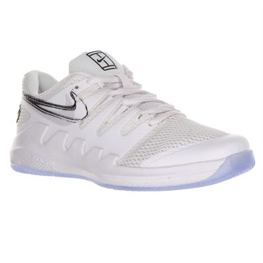 Nike Junior Vapor X Tennis Shoe - White/Black/Canary