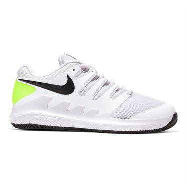Nike Junior Court Vapor X Tennis Shoe White/Black/Volt AR8851 101
