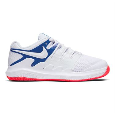 Nike Court Vapor X Junior Tennis Shoe White/Game Royal/Flash Crimson AR8851 103