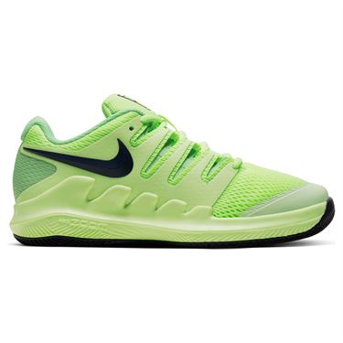 Nike Junior Court Vapor X Tennis Shoe Ghost Green/Blackened Blue/Barely Volt AR8851 302