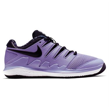 Nike Vapor X Junior Tennis Shoe - Purple Agate/Black/White/Hyper Crimson