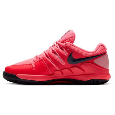 Nike Junior Court Vapor X Tennis Shoe Laser Crimson/Blackened Blue/Pink AR8851 604