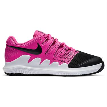 Nike Court Vapor X Junior Tennis Shoe Laser Fuchsia/Black/White AR8851 605