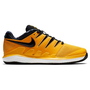 Nike Vapor X Junior Tennis Shoe - University Gold/Black/White/Volt Glow