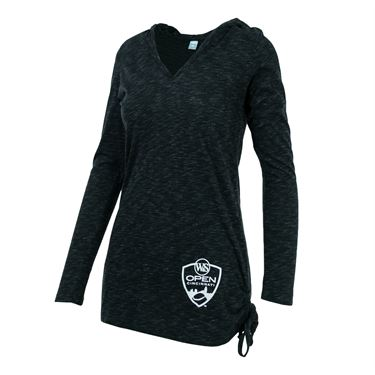 Western and Southern Open V Neck Hoodie - Black