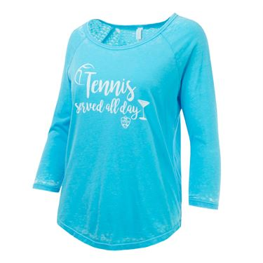 Western and Southern Tennis Served All Day Tee - Blue
