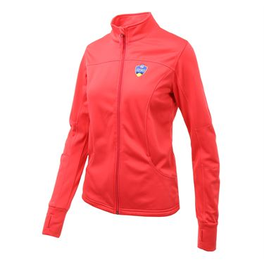 Western and Southern Open Full Zip Jacket - Coral ASW 26