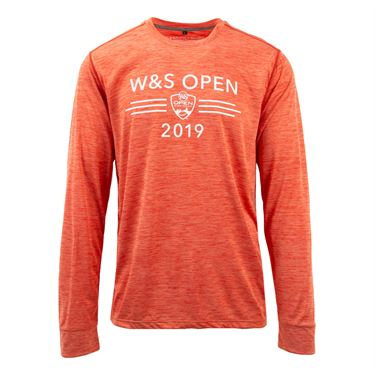 Western & Southern Performance Long Sleeve Tee - Orange
