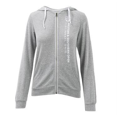 W&S Full Zip Jacket Womens Heather Grey ASW19 24