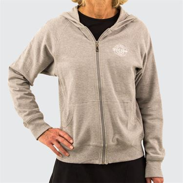 W&S Pique Hoodie Womens Heather Grey ASW19 37