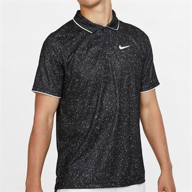 Nike Court Advantage Print Polo - Black/White