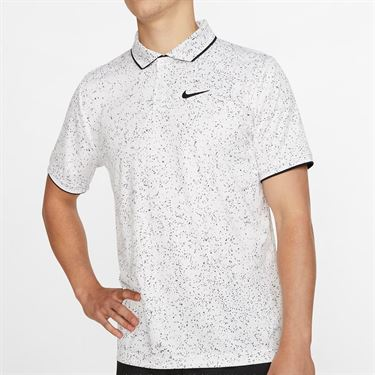 Nike Court Advantage Print Polo - White/Black