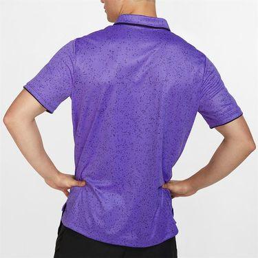 Nike Court Advantage Print Polo - Psychic Purple/Black