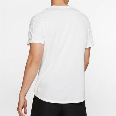 Nike Court Dry Graphic Crew - White/Black