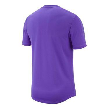 Nike Court Dry Graphic Crew - Psychic Purple/Black