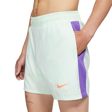 Nike Court Dri FIT Rafa Short Mens Barely Green/Bright Mango AT4315 394