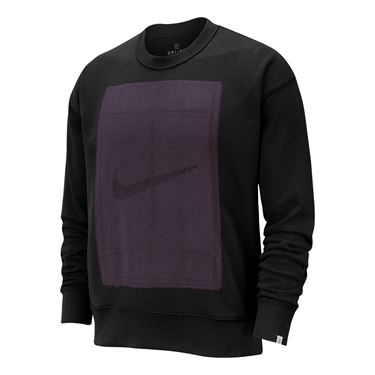 Nike Court Reversible Fleece Long Sleeve - Black/Off Noir