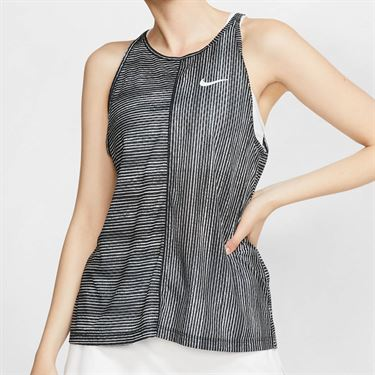 Nike Court Printed Tank - Black/White