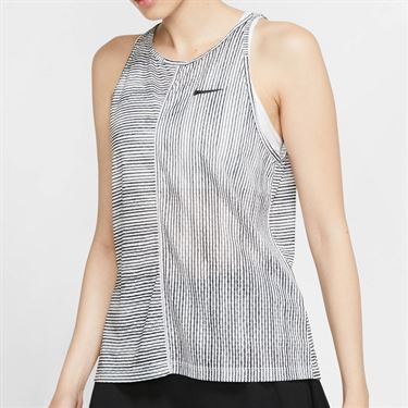 Nike Court Printed Tank - White/Black
