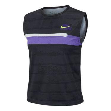 Nike Court Slam New York Tank - Off Noir/Purple/White/Volt