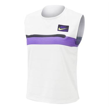 Nike Court Slam New York Tank - White/Purple/Black/Volt