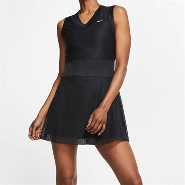 Nike Court Slam Dress - Black/White