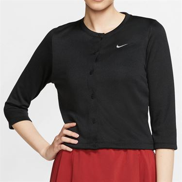 Nike Court Cardigan - Black/White