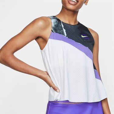 Nike Court New York Tank - White/Purple/Black/Volt