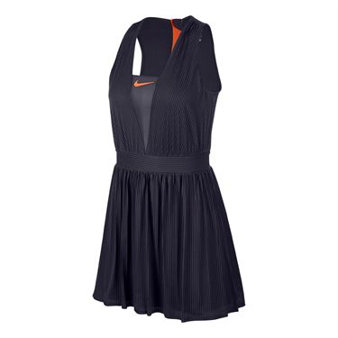 Nike Court Maria Dry Dress - Gridiron/Hyper Crimson