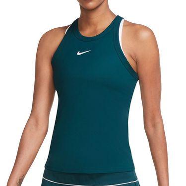 Nike Court Dri Fit Tank Womens Dark Atomic Teal/White AT8983 300