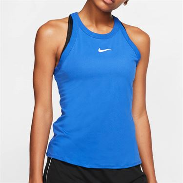 Nike Court Dri Fit Tank Womens Game Royal/White AT8983 480