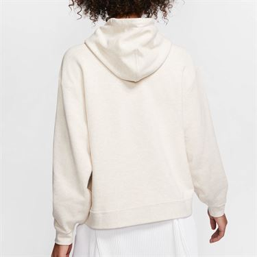 Nike Court Hoodie Womens Light Orewood Brown/White AV0766 104