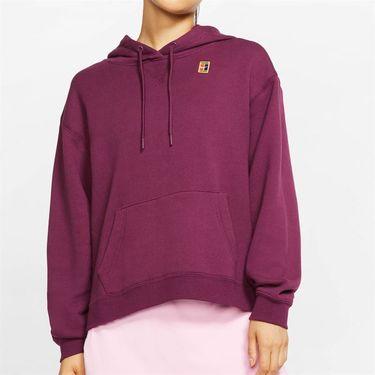 Nike Court Hoodie Womens Bordeaux AV0766 609
