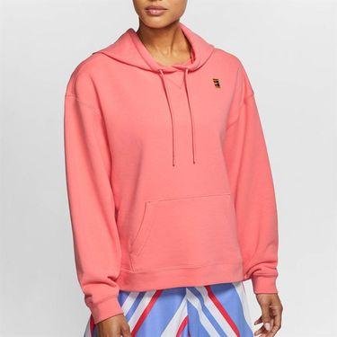 Nike Court Hoodie Womens Sunblush/White AV0766 655