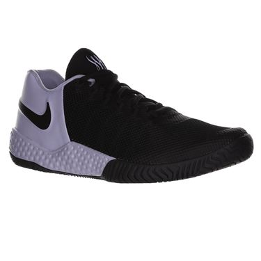 Nike Flare 2 HC Womens Tennis Shoe - Black/Oxygen Purple/Anthracite