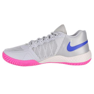 Nike Flare 2 Womens Tennis Shoe - Pure Platinum/Racer Blue/Metallic Platinum