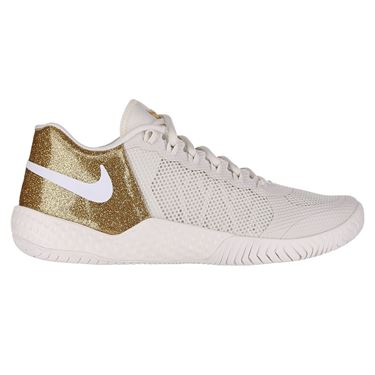 Nike Court Flare 2 QS Womens Tennis Shoe Phantom/Metallic Gold AV4713 007
