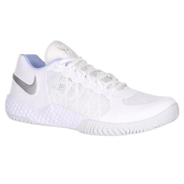 Nike Flare 2 HC Womens Tennis Shoe - White/Metallic Silver/Pure Platinum