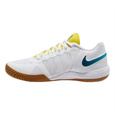 Nike Court Flare 2 Womens Tennis Shoe White/Valerian Blue/Oracle Aqua AV4713 107