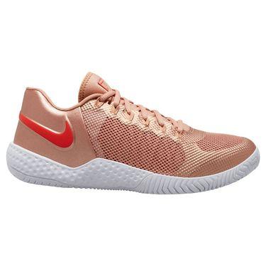 Nike Court Flare 2 Womens Tennis Shoe Metallic Red Bronze/Habanero Red/Rose Gold AV4713 900