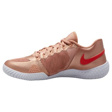 Nike Court Flare 2 Womens Tennis Shoe Metallic Red Bronze/Habanero Red/Rose Gold AV4713 900