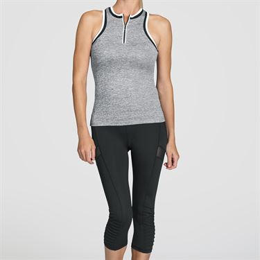 Tail Core Front Zip Tank - Frosted Heather