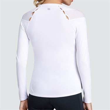 Tail Core Long Sleeve Varsity Top - White