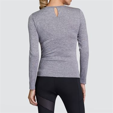 Tail Core Knotted Hem Long Sleeve Top