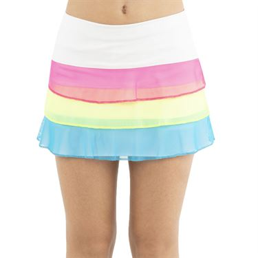 Lucky in Love Mad About Plaid Girls Triple Threat Mesh Skirt Multi B102 955