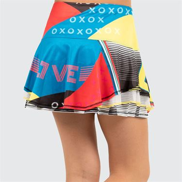 Lucky in Love Future Retro Girls Flip Skirt Paradise Blue B105 B02450