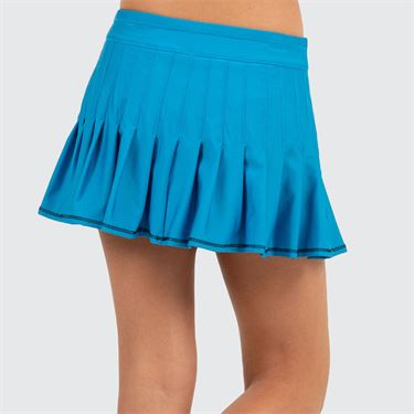 Lucky in Love Future Retro Girls Mini Pleated Skirt Paradise Blue B107 450