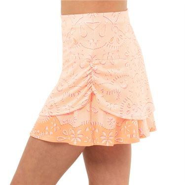 Lucky in Love Eyelet Go Girls Ruched Skirt
