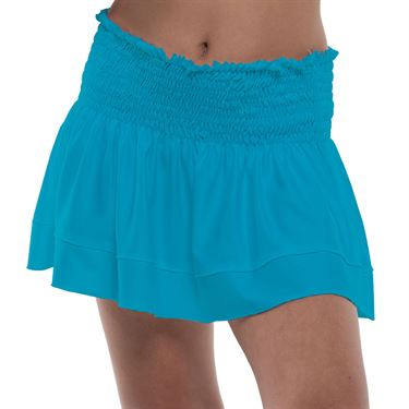 Lucky in Love Square Are You Girls Smock Skirt Turquoise B118 409
